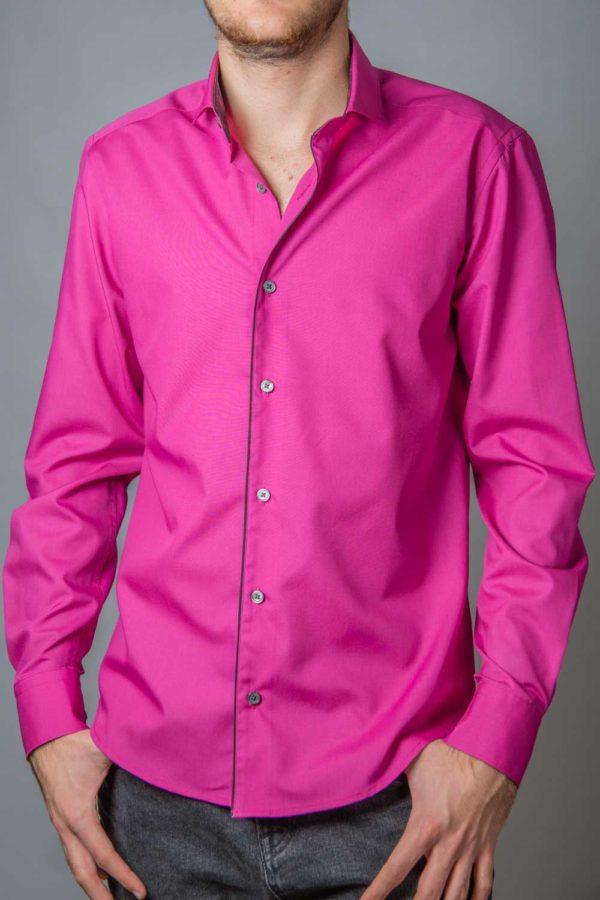 Glenn, camasa eleganta roz slim fit