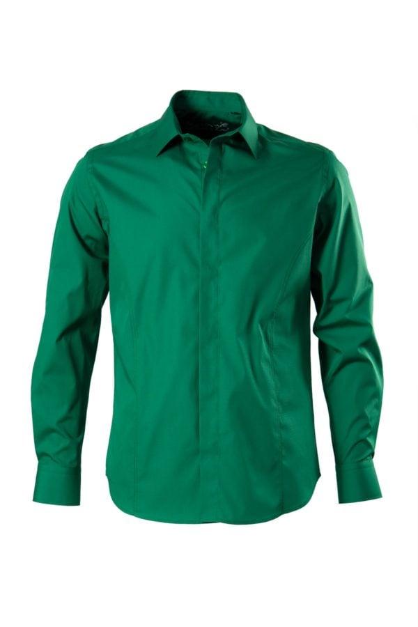 Camasa verde pentru ocazii speciale pe tipar SLIM FIT