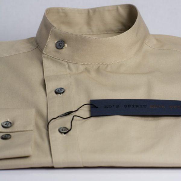 Camasa asimetrica crem cu guler tunica