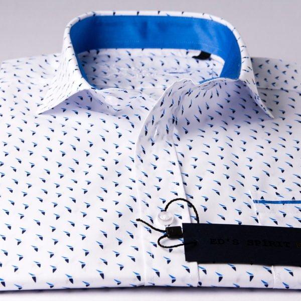 Camasa alba cu maneca scurta croita pe tipar SLIM FIT