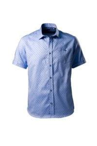 Camasa bleu deschis cu maneca scurta pe tipar SLIM FIT
