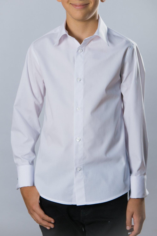 Camasa alba simpla croita pe tipar pentru copii