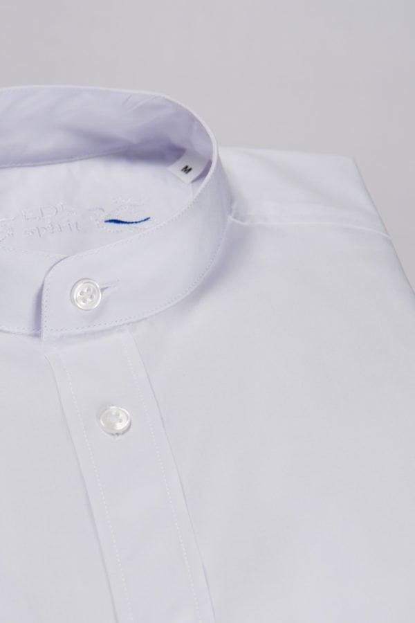Camasa alba pentru copii cu guler tunica
